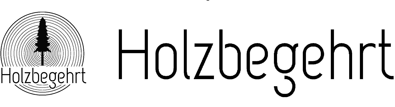 Logo Holzbegehrt Schriftzug