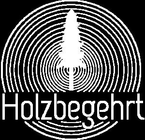 Logo Holzbegehrt weiß und transparent